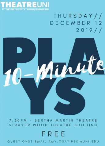 Students in Amy Osatinski's directing class will present short plays in the Bertha Martin Theatre on Thursday, Dec. 12 at 7:30 p.m.