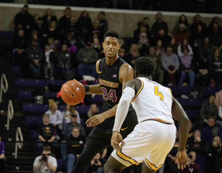 The Panthers men's basketball team moved into first place in the Missouri Valley Conference with their win over Loyola-Chicago on Sunday.