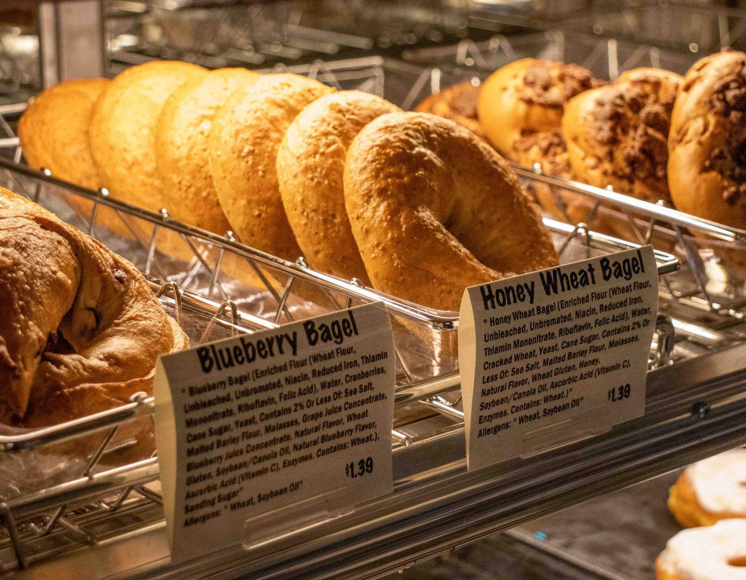 UNI Dining Services now offers bagels and cream cheese, available at campus retail locations and UNI catering.