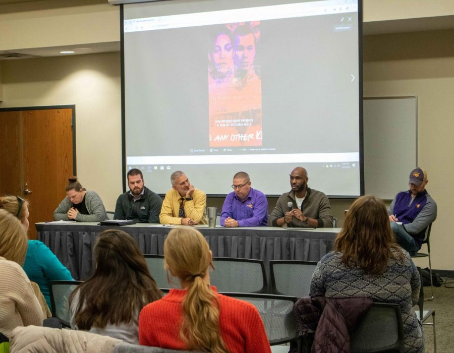 """UNI Department of Social Work and the Master's in Social Work Student Associated collaborated to host a film screening and panel discussion about """"Like Any Other Kid,"""" a documentary on the Missouri Method."""