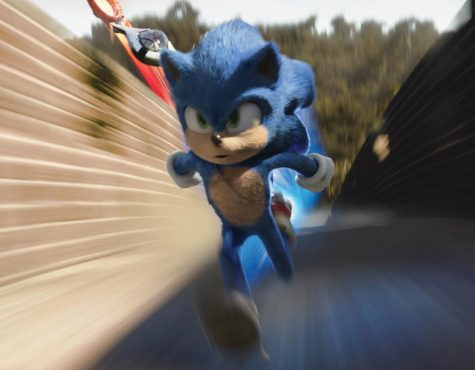 "Sonic, voiced by Ben Schwartz, in ""Sonic the Hedgehog ."" [Paramount Pictures/Sega of America]"