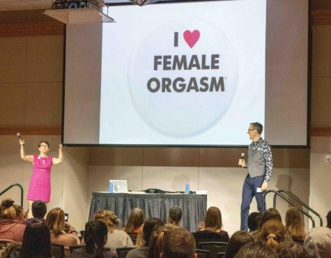 "UNI's Campus Activities Board and Student Wellness Center collaborated to present ""I Heart Female Orgasm,"" an informative event about sexuality held on Thursday, Feb. 6 in the Maucker Union Ballroom."