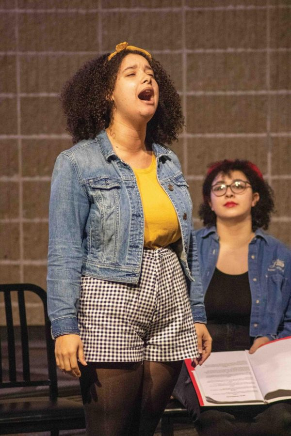 """UNI Multicultural Theatre Society publicist Zoella Sneed performs a """"hauntingly beautiful"""" rendition of """"The House of the Rising Sun."""""""
