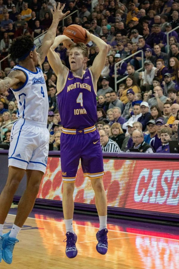UNI sophomore A.J. Green was named the 2019-2020 Missouri Valley Conference Player of the Year. Green is the fourth Panther player in history to win the Larry Bird trophy.