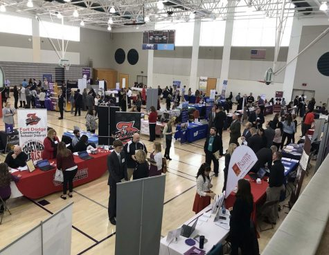 UNI's annual Teacher Fair is this Saturday, March 7 in the Gallagher Bluedorn Performing Arts Center. Students will have the opportunity to mingle with representatives from over 70 school districts at the recruitment event.