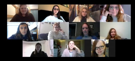 Book club member discuss the young adult novel,