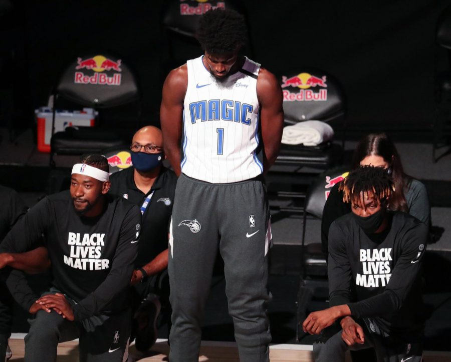 Orlando Magic player Jonathon Issac was one of the few NBA players to not kneel during the national anthem, citing religious reasons.