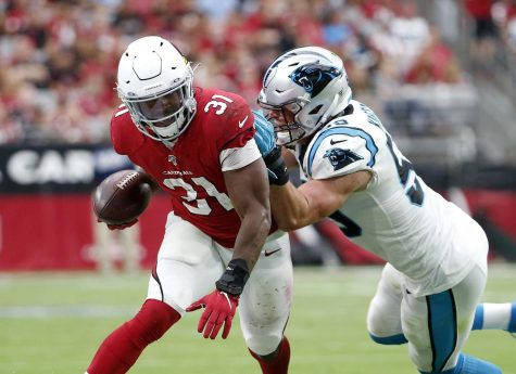 Former UNI Panther David Johnson on  Arizona Cardinals team.