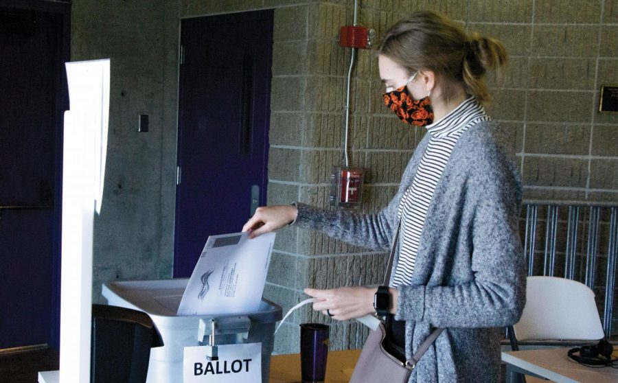 In-person voting may be done early in the UNI-Dome by all who are registered to vote in Black Hawk County.