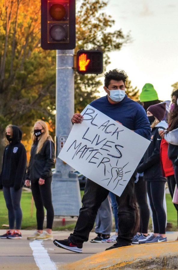 Cedar Valley Black Lives Matter lead members of the UNI community in