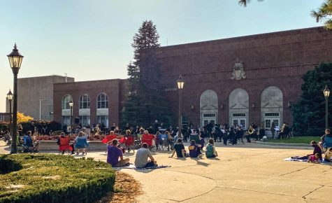 The school of music provided two outdoor concerts UNI students and faculty members last week.