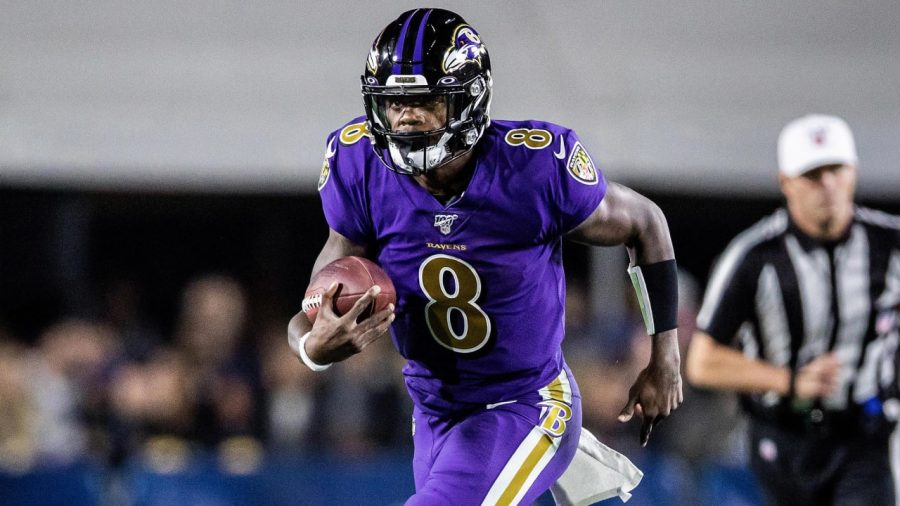 2019-20+NFL+MVP+Lamar+Jackson%27s+Baltimore+Ravens+suffered+a+defeat+in+their+matchup+against+the+Kansas+City+Chiefs+in+a+matchup+of+top+AFC+teams.