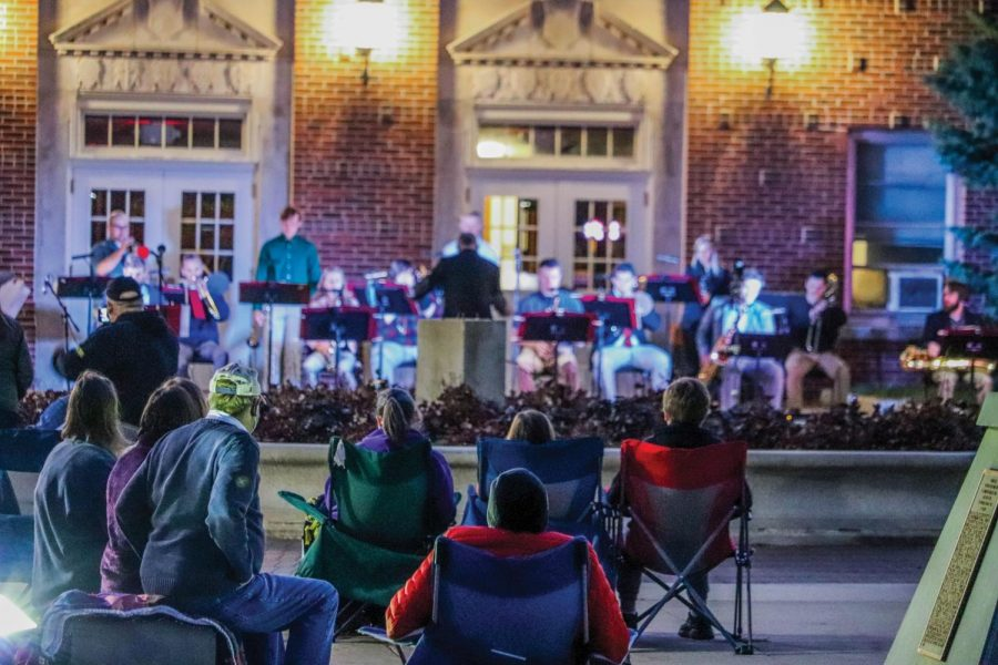 UNI's School of Music hosted their outdoor concert on Sept. 29, featuring Jazz Band One, Jazz Band Two, and Jazz Band Three.