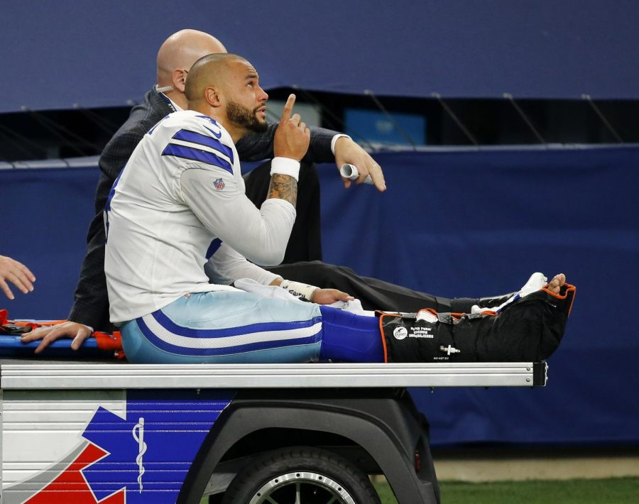 Dallas+Cowboys+quarterback+Dak+Prescott+suffered+a+gruesome+ankle+injury+in+last+Sunday%27s+game+against+the+Cleveland+Browns.+He+underwent+surgery+and+it+out+for+the+remainder+of+the+season.