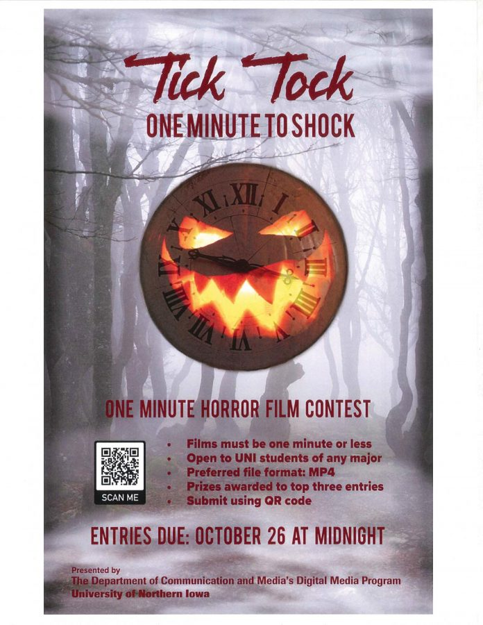 Students of all majors are allowed to compete in a one-minute horror film contest.