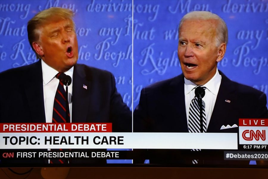 President+Donald+Trump+and+former+Vice+President+Joe+Biden+have+their+first+of+three+debates+before+the+election.