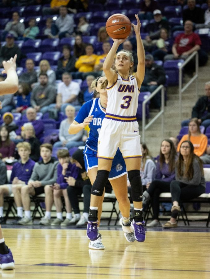 UNI senior guard Karli Rucker was picked forth MVC's preseason all-conference team, announced on Tuesday. She was the Panther's leading scorer from a year ago.
