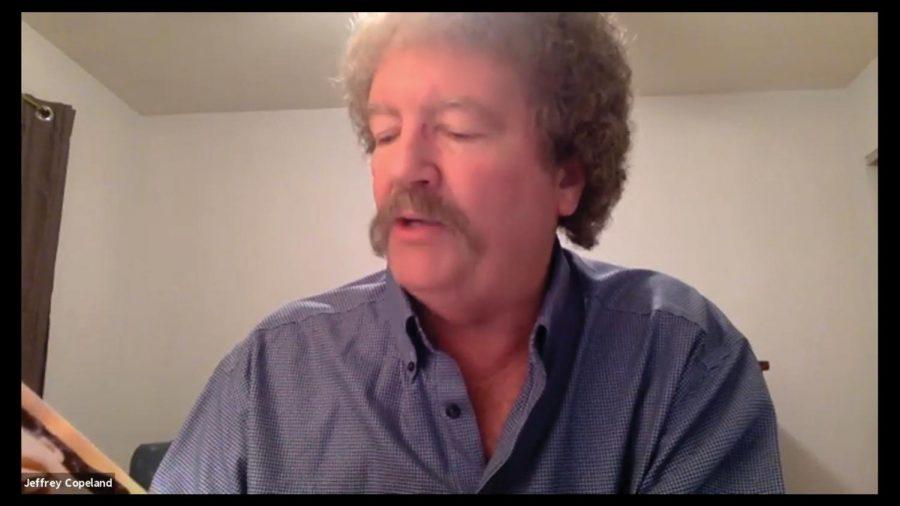 Jeffrey Copeland read his book