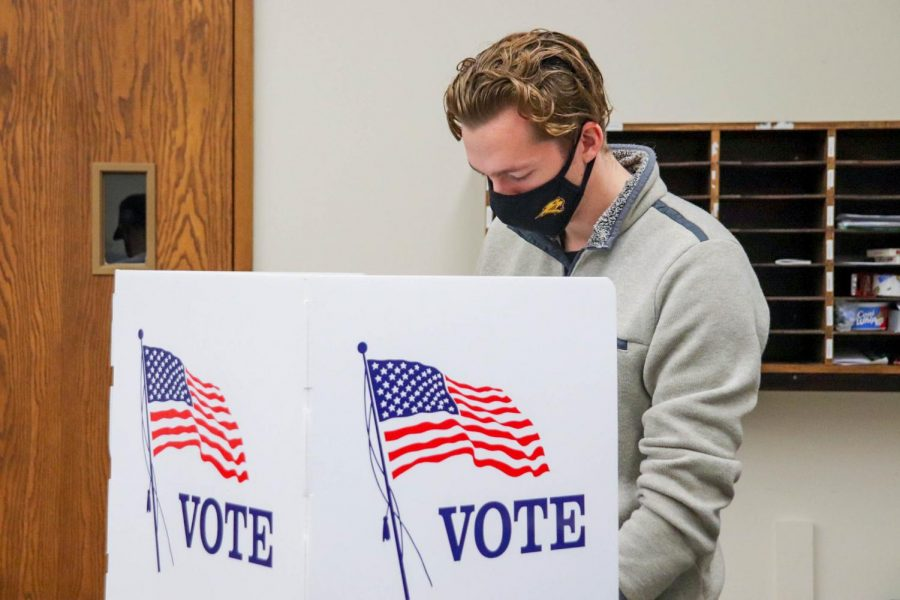 The University of Northern Iowa routinely has among the best voter turnout of college campuses in the country, in large part of the registration efforts by campus groups such as UNI Athletics.
