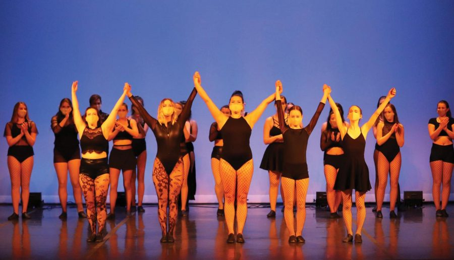 Members of the UNI Orchesis Dance Company performed multiple routines throughout their fall show.