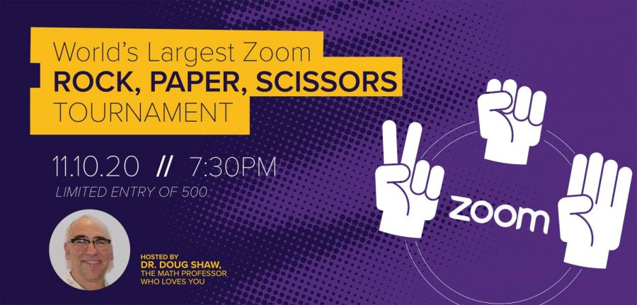 UNI math teacher Douglas Shaw will be hosting the world's largest virtual rock, paper, scissors tournament on Tuesday, November 12.