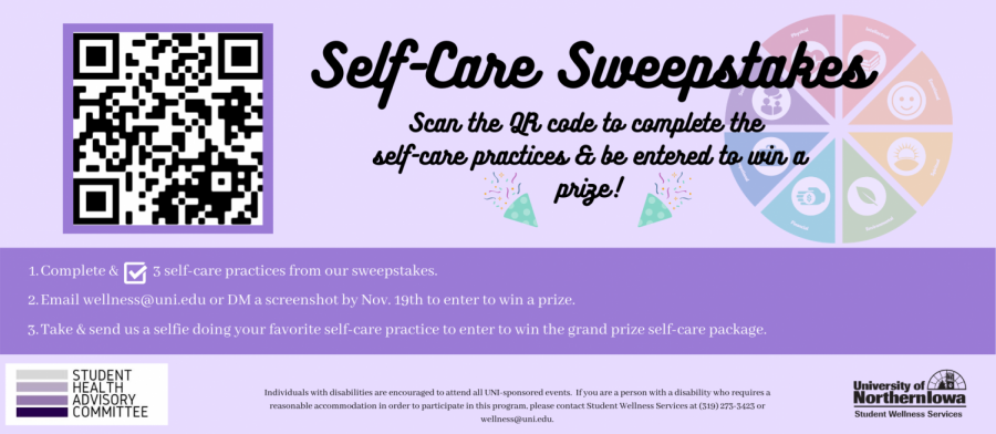 Student Wellness Services wants you to practice self-care.