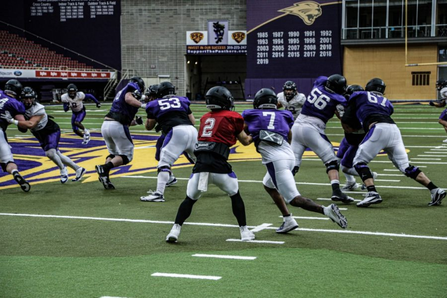 The UNI football team has been adjusting to many of the changes in recent months, including preparing for a spring season and COVID-19 protocols.