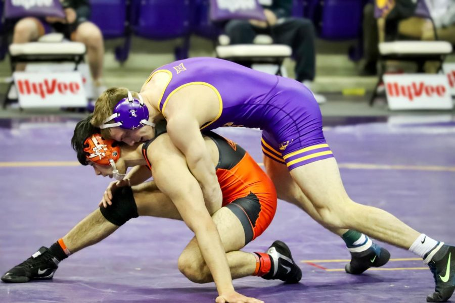 A top-25 wrestling matchup between UNI and Oklahoma State had its ups and downs for both squads. The visitors from Stillwater, OK came away with the win.