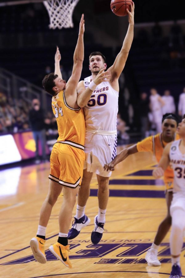 Junior Austin Phyfe led the Panthers in rebounds with seven in Sunday's contest against Valparaiso.