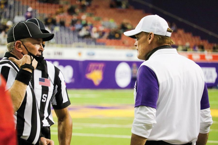 Coach Mark Farley earned his 100th Missouri Valley Football Conference against Youngstown State.