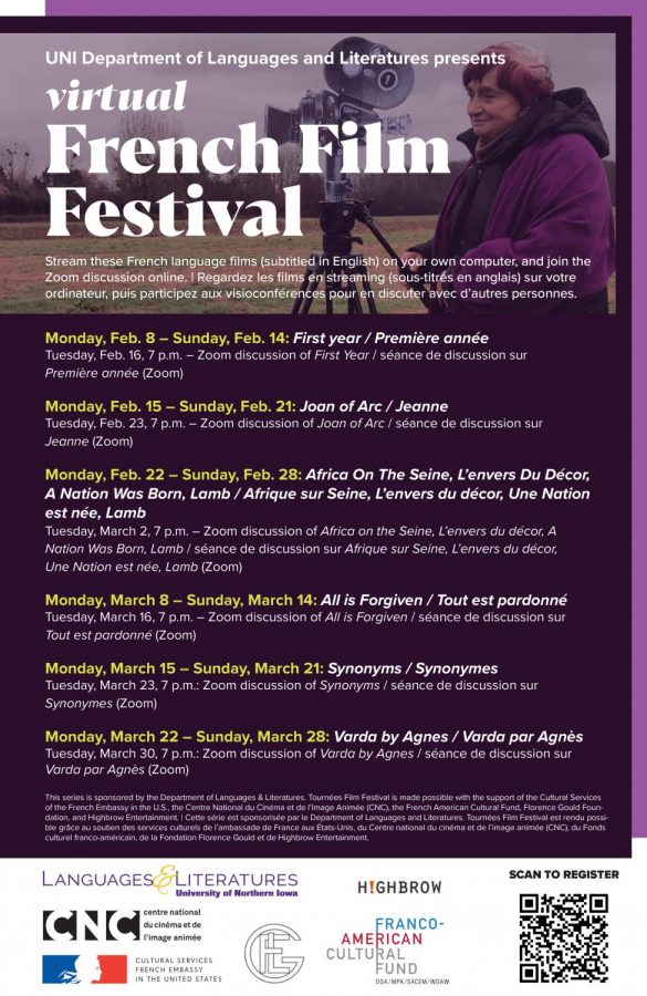 UNI will host its first French Film Festival throughout the months of February and March.