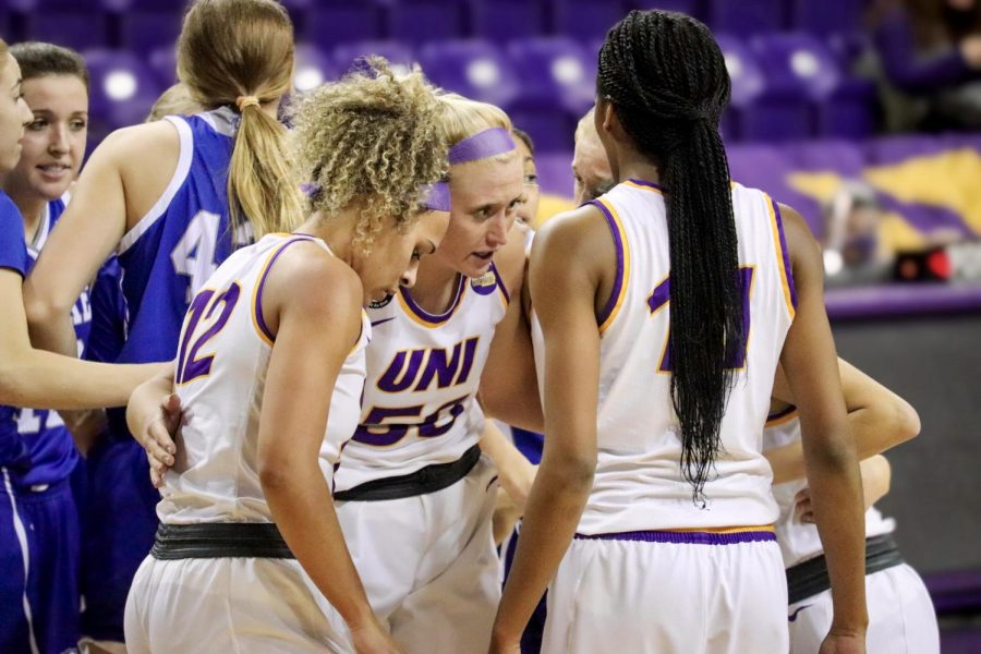The UNI women's basketball team defeated Saint Louis in the WNIT quarterfinals, moving to the semifinals on Friday.