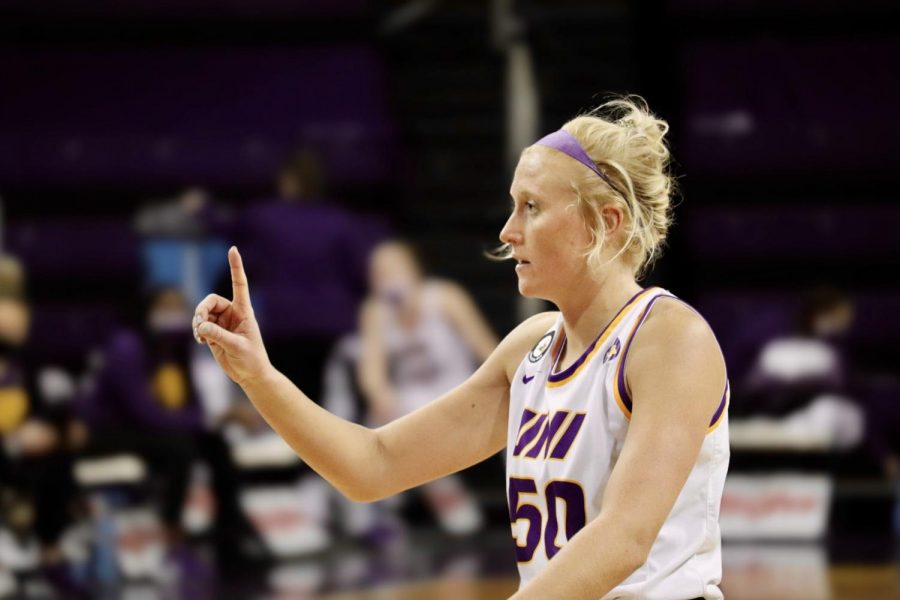 UNI's Megan Maahs was honored last Sunday for Senior Day following the Panther's 96-48 victory over Evansville.