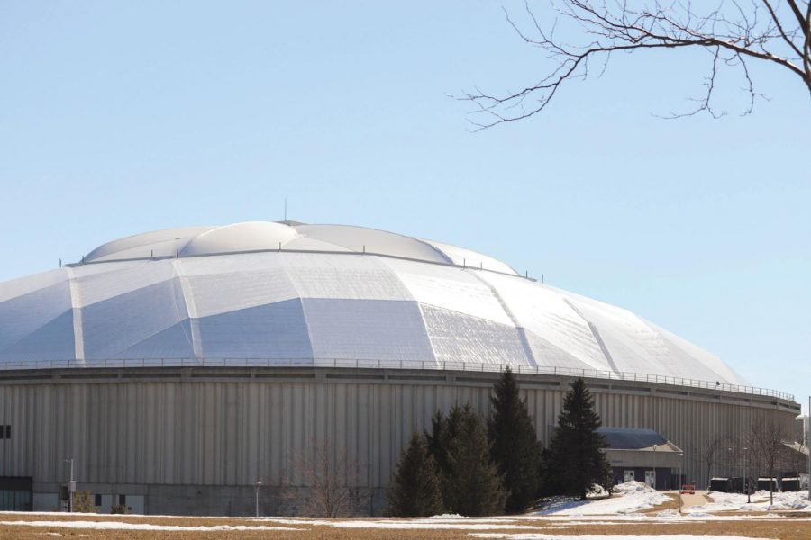 As+parts+of+the+UNI-Dome+roof+reach+the+end+of+their+useful+life%2C+there+are+plans+to+replace+the+fabric.