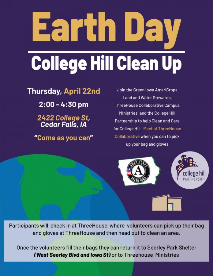A cleanup event for College Hill and the surrounding areas will occur this Earth Day.