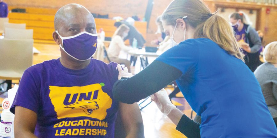 COVID-19 vaccination clinics opened on UNI's campus from April 14-16.