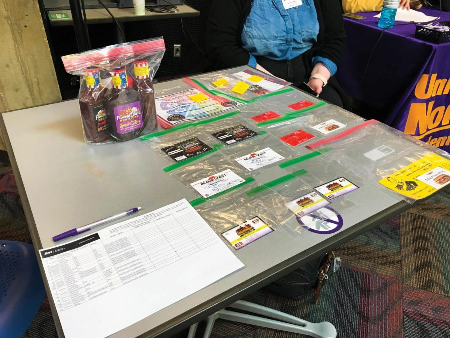 Students hope to win a selection from a number of prizes in