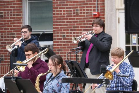 UNI Jazz Studies shared a collection of pieces at their outdoor concert on Friday, April 23.