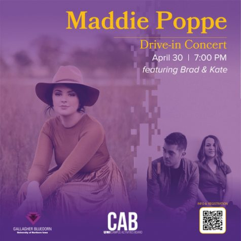 Maddie Poppe, accompanied by Brad & Kate, will perform a drive-in concert on April 30.