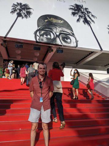 Hunter Friesen, Northern Iowan film critic, at the Cannes Film Festival.