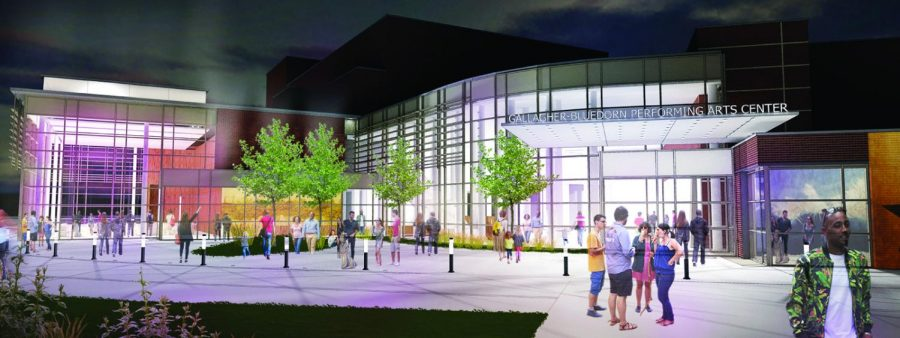 Gallagher+Bluedorn+Performing+Arts+Center+received+%242+million+from+the+Pauline+R.+Barrett+Charitable+Foundation+for+renovations+scheduled+for+the+summer+of+2022.+Above+is+a+rendering+of+proposed+renovations.+