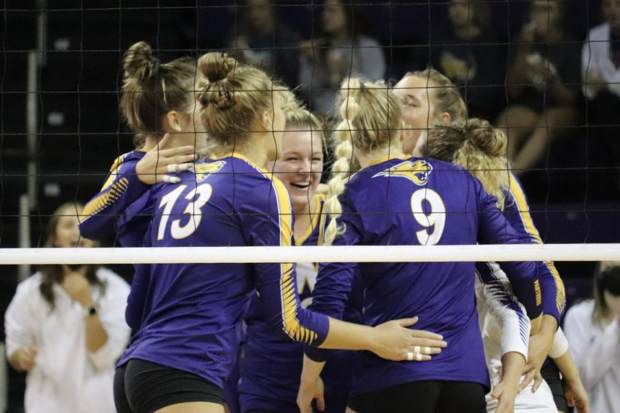 The UNI volleyball team defeated Texas-San Antonio but fall to Wright State and Marquette over the weekend at the Marquette tournament.