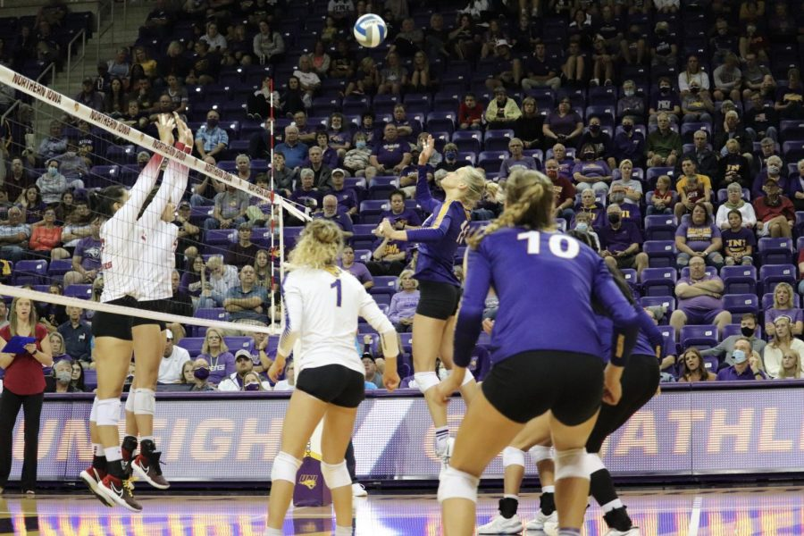 In their first game of the 2021 season, the Panthers fell to in-state rivals Iowa State in three sets in front of an energetic McLeod Center crowd. The Panthers will return home on Sept. 24 against Bradley University.
