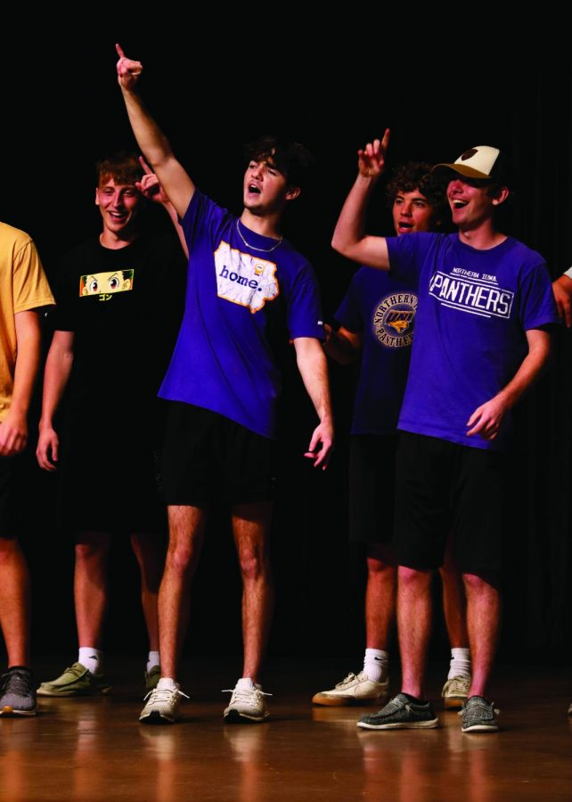 Members of Greek life competed in Pride Cry. The participants included Sigma Alpha Epilson, Alpha Delta Pi, Alpha Sigma Tau and Pi Kappa Alpha. The winner will perform at the pep rally Friday, Oct. 1 at 7 p.m.
