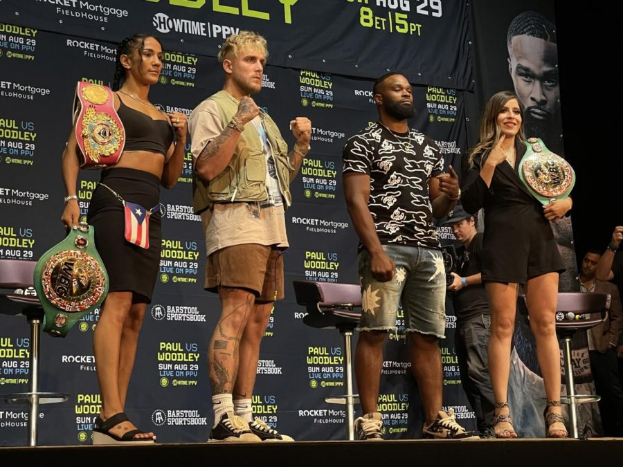 Pictured is Jake Paul who faced Tyron Woodley on Sunday, Aug. 29/