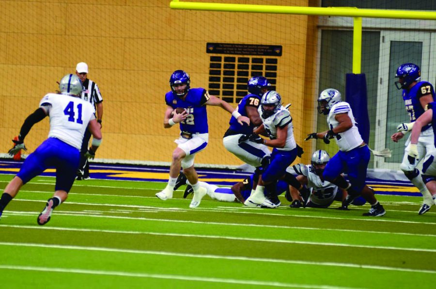 UNI quarterback Theo Daly has lead the Panthers to two victories so far this season. He will be back to add a third on Saturday against Youngstown State.