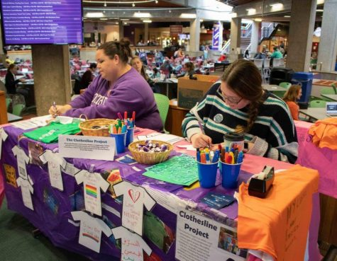 The Clothesline Project will be a three day event held on campus. Students are encouraged to participate by going to tables set up in the Union from 10 a.m.-1 p.m. and write messages on T-shirts of their own experience or messages of encouragement and solidarity.